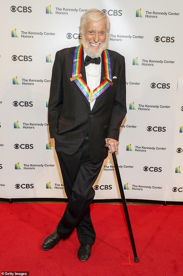 'Saya senang berada di mana saja': Dick baru-baru ini mendapat penghargaan atas kariernya selama puluhan tahun dengan Lifetime Achievement Award di 2021 Kennedy Center Awards.