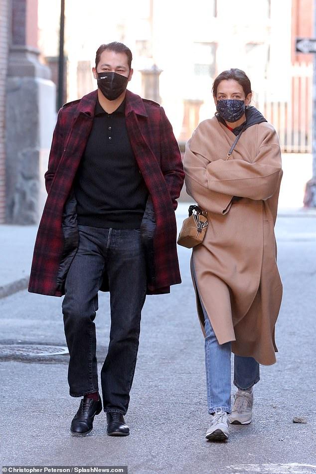 Pasangan Lucu: Katie dan Emilio pertama kali terhubung pada bulan September setelah mereka terlihat di restoran keluarganya, Emilio's Battalo, di New York City